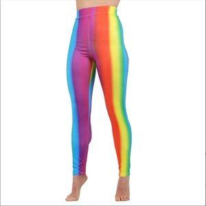 NWT Just Me Rainbow Leggings s/m